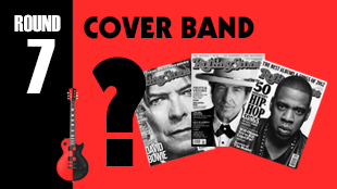 The band will play some songs and teams will have to answer who performed or wrote the original and who played the famous cover version.